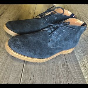 👞🌑Tommy Hilfiger Navy Blue Sued Chukka Boots🌑👞